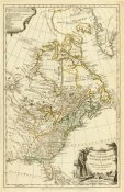 Thomas Jefferys - Map of The British Empire in North America, 1776