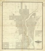 I.A. Lapham - Map of Milwaukee, 1856