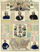 H.H. Lloyd - The National Political Chart, Civil War, 1861