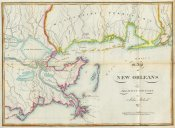 John Melish - Map of New Orleans and Adjacent Country, 1815