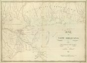 John Melish - Map of New Orleans and Adjacent Country, 1824
