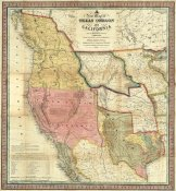 Samuel Augustus Mitchell - A New Map of Texas Oregon and California, 1846