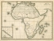 Samuel Augustus Mitchell - Map of Africa, 1839