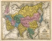Samuel Augustus Mitchell - Map of Asia, 1839