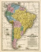Samuel Augustus Mitchell - Map of South America, 1839