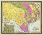 Samuel Augustus Mitchell - Map of Texas, 1846