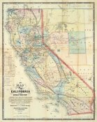 Leander Ransom - New Map of The State of California and Nevada Territory, 1863