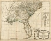 Robert Sayer - A General Map of the Southern British Colonies, in America, 1776