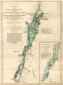 Robert Sayer - A Survey of Lake Champlain, including Lake George, Crown Point and St. John, 1776