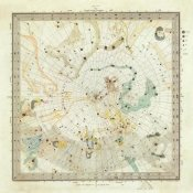 Society for the Diffusion of Useful Knowledge - Celestial Anno 1830. No. 5. Circumjacent the North Pole, 1844