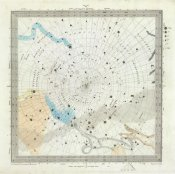 Society for the Diffusion of Useful Knowledge - Celestial Anno 1830. No. 6. Circumjacent the South Pole, 1844