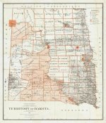 U.S. General Land Office - Territory of Dakota, 1879