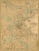 H. F. Walling - Map of Boston, 1860