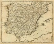 Aaron Arrowsmith - Spain, Portugal, 1812