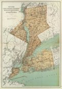 Joseph Rudolf Bien - New York: Kings, Queens, Richmond, Rockland, Westchester, Putnam counties, 1895