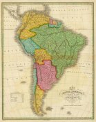 Anthony Finley - Map of South America, 1826