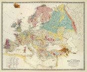 Sir Roderick Impey Murchison - Geological map Europe, 1856