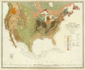 Henry Darwin Rogers - Geological map of the United States, 1856