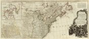 Thomas Pownall - A new map of North America, with the West India Islands (Northern section), 1786