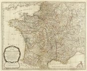 Thomas Kitchin - A new map of the Kingdom of France, 1790