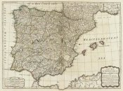 Thomas Kitchin - A new map of the Kingdoms of Spain and Portugal, 1790