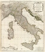 Thomas Kitchin - A new map of Italy with the islands of Sicily, Sardinia & Corsica, 1790
