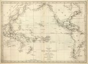 Jean-Francois de Galaup La Perouse - Chart of the Great Pacific Ocean, 1799