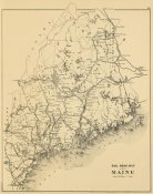 J.H. Stuart and Co. - Railroad map of Maine, 1894