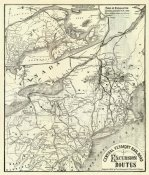 Central Vermont Railroad Company - Central Vermont. RR. excursion routes, 1879