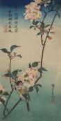 Ando Hiroshige - Small bird on a branch of Kaidozakura., 1834