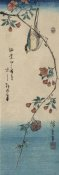 Ando Hiroshige - Small bird on a branch of Kaidozakura (Kaido ni shokin), 1844