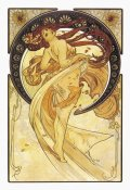 Alphonse Mucha - Dance (Golden), 1898