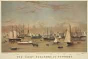 Unknown - The Yacht squadron at Newport, 1872