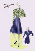 Unknown - Pleated Dress with Plaid Jacket, 1947