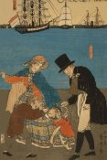 Sadahide Utagawa - Dutch people taking a Sunday walk in Yokohama (Yokohama kyujitsu - Orandajin yuko), 1871
