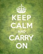 The British Ministry of Information - Keep Calm and Carry On - Vintage Green
