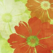 Kay Daichi - Tangerine, Green and Ivory I