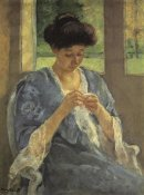 Mary Cassatt - Augusta Sewing Before A Window 1910