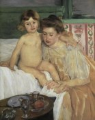 Mary Cassatt - Baby Getting Up From His Nap 1899