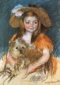 Mary Cassatt - Child Holding A Dog 1901