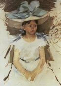 Mary Cassatt - Ellen Mary In A Big Blue Hat 1905