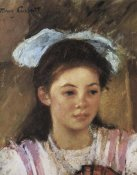 Mary Cassatt - Ellen Mary With A Large Bow In Her Hair 1908