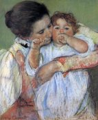 Mary Cassatt - Little Anne Sucking Her Finger 1897