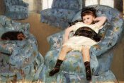 Mary Cassatt - Little Girl In A Blue Armchair 1878