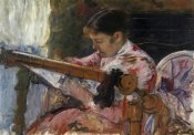 Mary Cassatt - Lydia Seated At An Embroidery Frame 1881