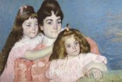 Mary Cassatt - Madame Aude And Her Two Daughters 1899