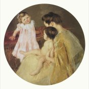 Mary Cassatt - Mother And Two Children Mural For Capitol Bldg PA 1905