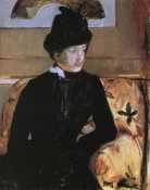 Mary Cassatt - Portrait Of A Young Woman In Black 1883
