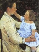 Mary Cassatt - The Childs Caress 1891