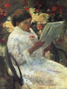 Mary Cassatt - Woman Reading In A Garden 1880